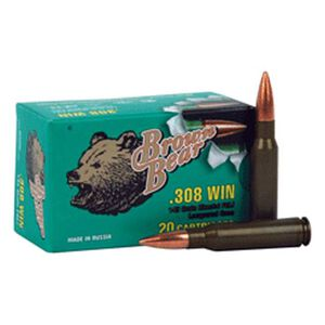 Brown Bear .308 Win 140 Grain Bi-Metal JSP 20 Round Box
