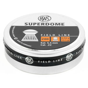RWS Superdome Field Line Air Gun Pellets .22 Caliber 14.5 Grain Superdome Lead Pellet 200 Round Tin