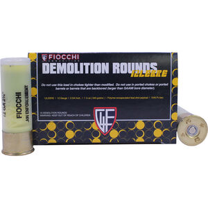 "Fiocchi Special Use LE 12 Gauge Ammunition 10 Rounds 2-3/4"" Polymer Composite Frangible Slug 1045fps"