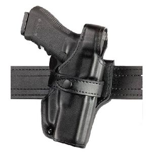 Safariland 070 GLOCK 20,20C,21,21C SSIII Level III Mid Ride Duty Holster Right Hand Leather Plain Black 070-383-161