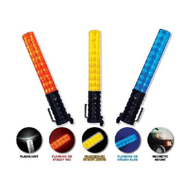 Emergency Medical International Flashback Three Light Baton Plastic Amber 3020