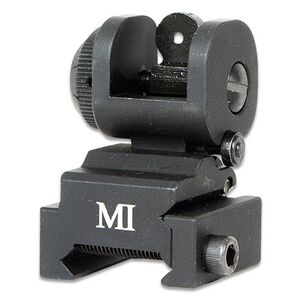 Midwest Industries AR-15 ERS Flip Up Rear Sight Aluminum Black MCTAR-ERS