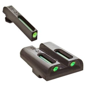 TRUGLO TFO Tritium and Fiber Optic Brite-Site Night Sight Set For GLOCK Green Front/Yellow Rear TG131GT1Y