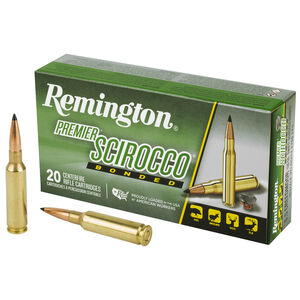 Remington Premier Scirocco 6.5 Creedmoor Ammunition 20 Rounds Brass Case Polymer Tip 130 Grains