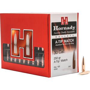"""Hornady 30 Caliber .308"""" 250 gr A-TIP Match Bullet 100 Count Box"""