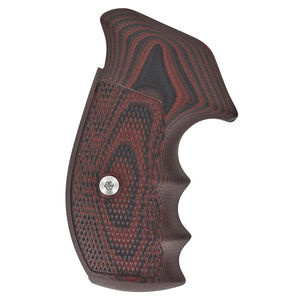 VZ Grips Tactical Diamond Grip Set For Smith&Wesson N-Frame Round Butt G-10 Black Cherry