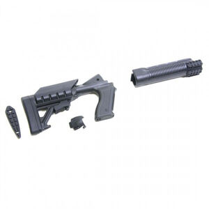 Archangel 500SC Tactical Shotgun Stock System Mossberg 500/590 with Receiver Mount Shell Carrier Black Polymer