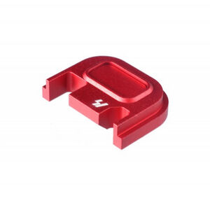 Strike Industries GLOCK Slide Cover Plate Fits All GLOCK Models Except 42/43 V1 Button Aluminum Red