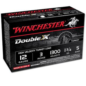 """Winchester Double X 12 Ga 3"""" #5 Plated 1.75oz 10 Rounds"""