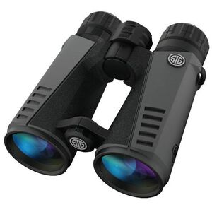 SIG Sauer Zulu7 10x42 Full Size Binoculars Multi-Coated BAK4 Prism System Multi-Position Twist Eyecups IPX-7 Waterproof/Fogproof Non-Slip Grip Coating Rubber Armor Graphite/Black Finish SOZ71001