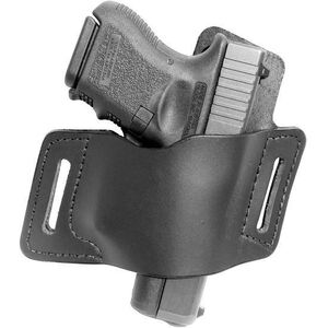VersaCarry Protector Size 3 Belt Slide Holster Single Stack Autos Right Handed Leather Black OWBBK3