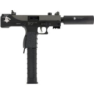 "Masterpiece Arms Defender MPA30TGR 9mm Luger Semi Auto Pistol 4.5"" Threaded Barrel 30 Rounds Top Cocker Grim Reaper Edition Aluminum Lower Two Tone Cerakote Finish"