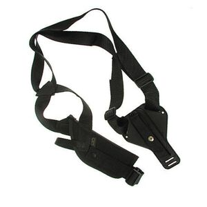 Uncle Mike's Vertical Shoulder Holster Medium/Large Scoped Revolvers Right Hand Nylon Black 85031