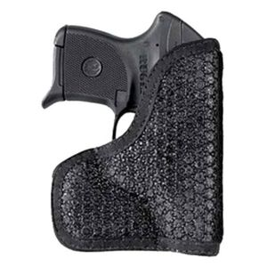 DeSantis Gunhide Super Fly SIG P290 with Laser, Kahr PM9, PM40 with Crimson Trace LG-437 Laserguard Pocket Holster Ambidextrous Rubberized Fabric Black M44BJU2Z0