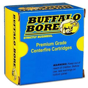 Buffalo Bore .38 Super +P Ammunition 20 Rounds JHP 124 Grains 33B/20