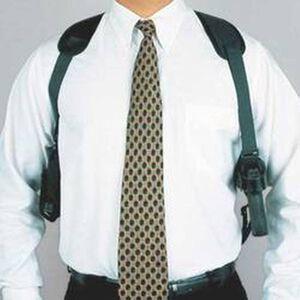 DeSantis Gunhide Patriot GLOCK Fullsize, S&W M&P Fullsize Shoulder Holster Ambidextrous Nylon Black N84BJB2J0