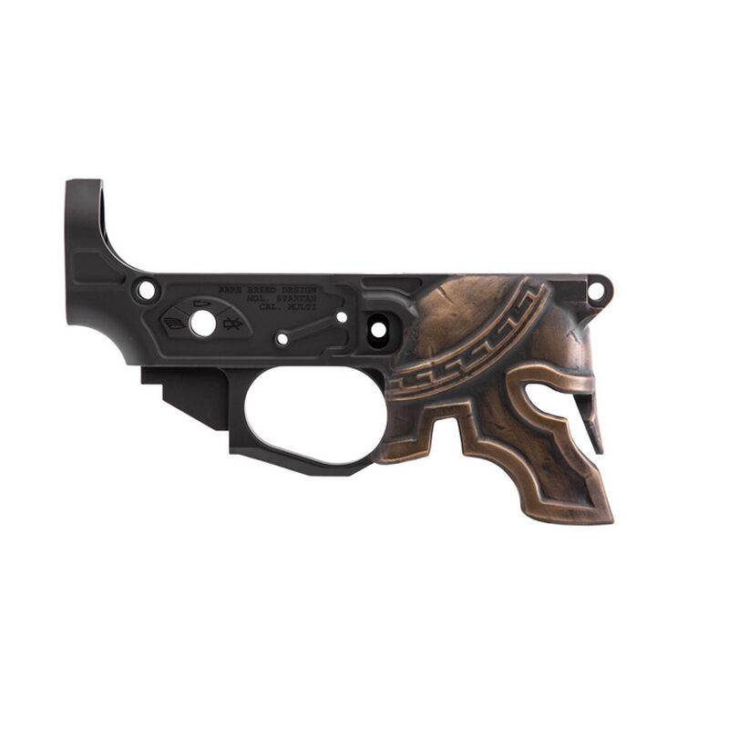 Spike's Tactical Rare Breed Spartan AR-15 Stripped Lower Receiver Painted Multi Caliber Marked Aluminum Black
