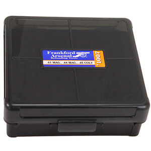Frankford Arsenal Plastic Hinge-Top Ammo Box 100 Round .44 Mag/.45 Long Colt and Similar Polymer Gray