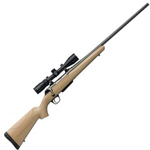 """Winchester XPR Dark Earth Combo .308 Win Bolt Action Rifle 3 Rounds 22"""" Barrel Dark Earth Synthetic Stock Gray Barrel"""