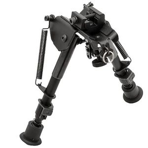 "TRUGLO Tac-Pod Adjustable Bipod 6"" to 9"" with Adapter Aluminum Black TG8901S"