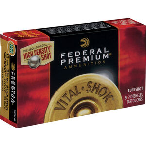 "Federal Ammunition Vital-Shok 12 Gauge 2.75"" 00 Buck High Density Five Rounds"