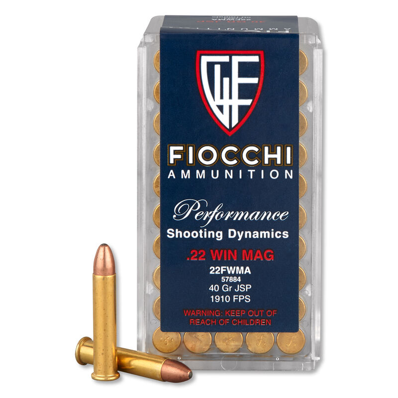 Fiocchi .22 WMR Ammunition 2000 Rounds, JSP, 40 Grain