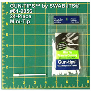 "Swab Its 3"" Mini Tip Gun Cleaning Swab Gun Tips 24 Pieces 81-9056"