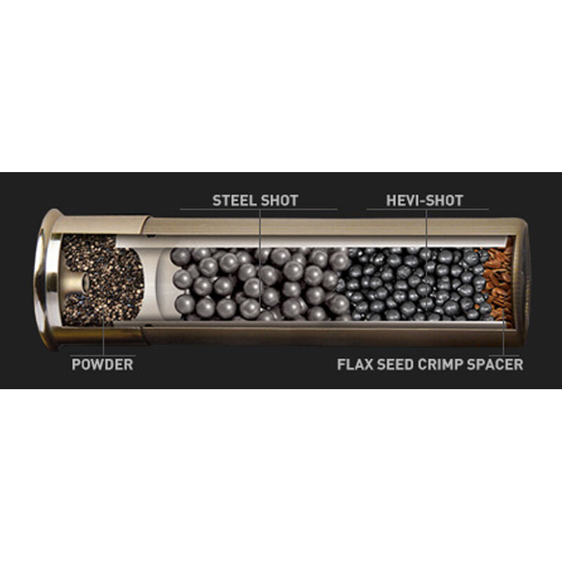 "Hevi-Shot Hevi-Metal Longer Range Ammunition 12 Gauge 25 Rounds 3"" #2 Lead Free Shot 1-1/4 oz 1500 fps"