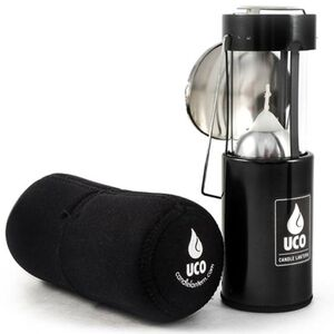 Industrial Revolution Original Candle Lantern Kit Aluminum Black with Neoprene Cocoon and Reflector L-A-KIT-BLK