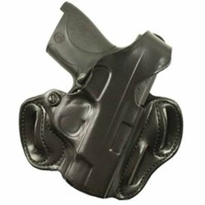 Desantis 001 S&W Shield Thumb Break Scabbard Belt Holster Right Hand Black Leather 001BAX7Z0
