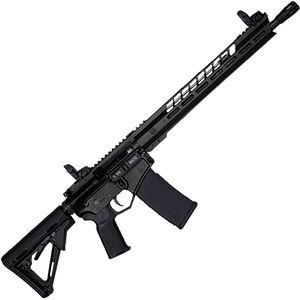 "Diamondback DB15 Black Gold Series 5.56 NATO AR-15 Semi Auto Rifle 16"" Barrel 30 Rounds with MBUS Sights 15"" M-LOK Handguard Collapsible Stock Black Finish"