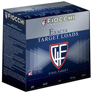 "Fiocchi Exacta Paper International 12 Gauge Ammunition 2-3/4"" #7.5 Shot 24 GM Lead Shot 1350fps"