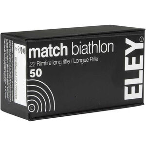 Eley Match Biathlon .22 LR Ammunition 50 Rounds 40 Grain LFN 1160fps