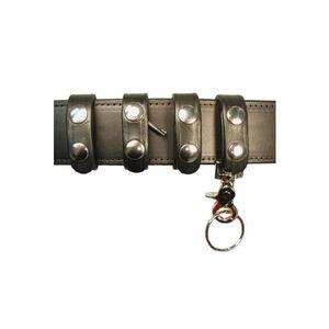 Boston Leather Belt Keeper Deluxe Combo Pack Nickel Snap Leather Basket Weave Black 7501-3
