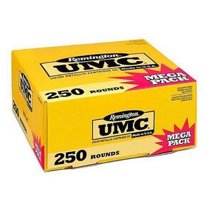 Remington UMC .380 ACP Ammunition 250 Rounds 95 Grain Full Metal Jacket 955fps Mega Value Pack