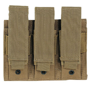 Voodoo Tactical Triple Pistol Magazine Pouch MOLLE Compatible Nylon Coyote Tan MS-20-7976-Tan