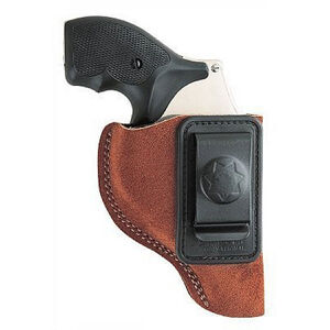 """Bianchi Waistband Holster Small-Frame Revolvers 2"""" Barrels Size 1 Right Hand Suede Rust 10380"""