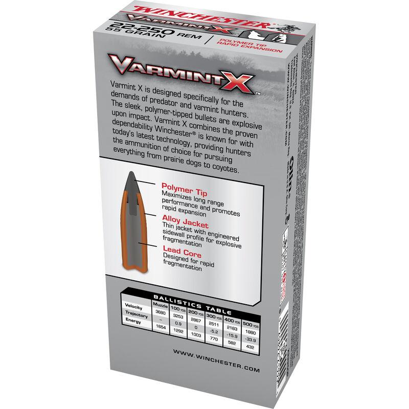 Winchester Varmint X .22-250 Remington Ammunition 200 Rounds, PT, 55 Grains