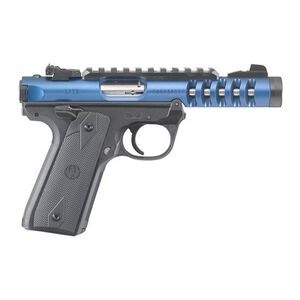 "Ruger Mark IV 22/45 Lite .22 LR Semi Auto Pistol 4.4"" Threaded Barrel 10 Rounds Blue Anodized"