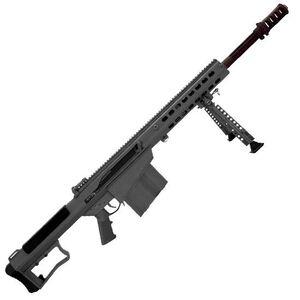 "Barrett M107A1 Semi Auto Rifle .50 BMG 20"" Fluted Barrel 10 Rounds Suppressor Ready Muzzle Brake 18"" Integrated Rail with 27 MOA Elevation Tungsten Grey Cerakote Receiver"