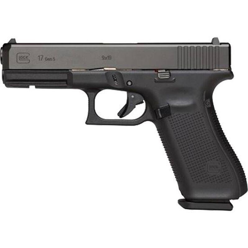 "GLOCK G17 Gen 5 9mm Luger Semi Auto Handgun 4.49"" Barrel 10 Rounds Interchangeable Backstraps Polymer Frame Black"