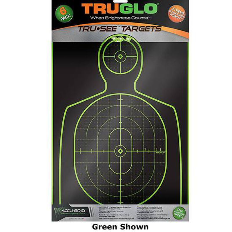 "TRUGLO Tru-See Splatter Target Handgun Paper Target 12""x18"" Pink 6 Pack TG13P6"