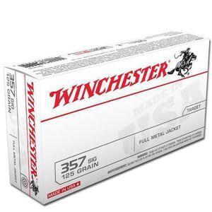 Winchester USA .357 SIG 125 Grain FMJ 50 Round Box