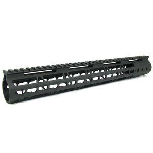 "TacFire AR-15 Ultra Slim Keymod Free Float Hand Guard With Detachable Rails 15"" Aluminum Black HG09-15"