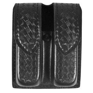 Safariland Model 77 Double Handgun Magazine Pouch GLOCK 20/21 Magazines Basket Weave Finish Hidden Snap Closure Black 77-383-4HS