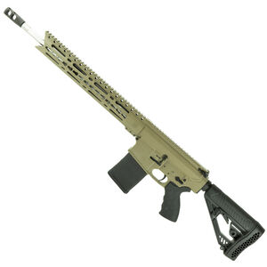 """Diamondback DB10ELB Semi Auto Rifle .308 Winchester 18"""" Stainless Steel Fluted Barrel 20 Rounds 15"""" KeyMod Hand Guard Collapsible Stock Matte FDE"""