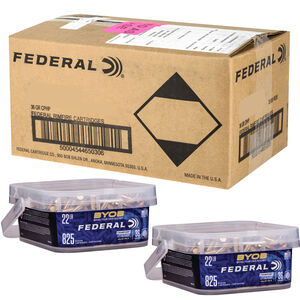 Federal Champion BYOB .22 Long Rifle Ammunition 36 Grain Copper Plated Hollow Point 1260fps