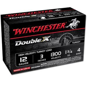 "Winchester Double-X 12 Ga 3"" #4 Copper Plated 10 Rounds"