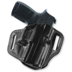 Galco Combat Master GLOCK 43 Belt Holster Leather Right Hand Black CM800B