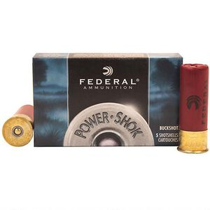 "Federal Power-Shok 12 Gauge 2.75"" RIfled Slug Ammunition 5 Rounds 1.25oz Hollow Point, 1520 fps"